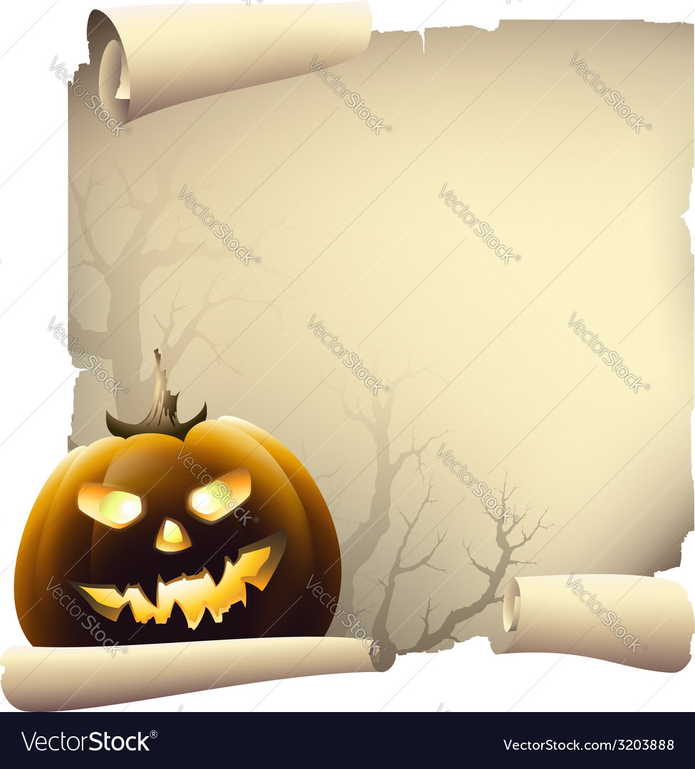 Halloween day banner drawing vector | Price: 1 Credit (USD $1)