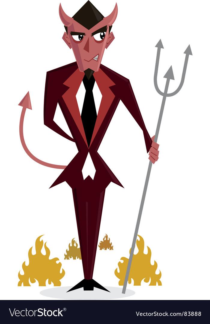 Halloween devil vector | Price: 1 Credit (USD $1)