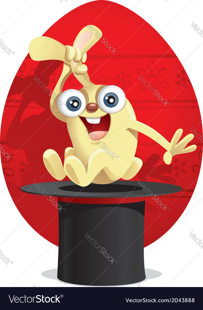 Magic easter bunny cartoon vector | Price: 1 Credit (USD $1)