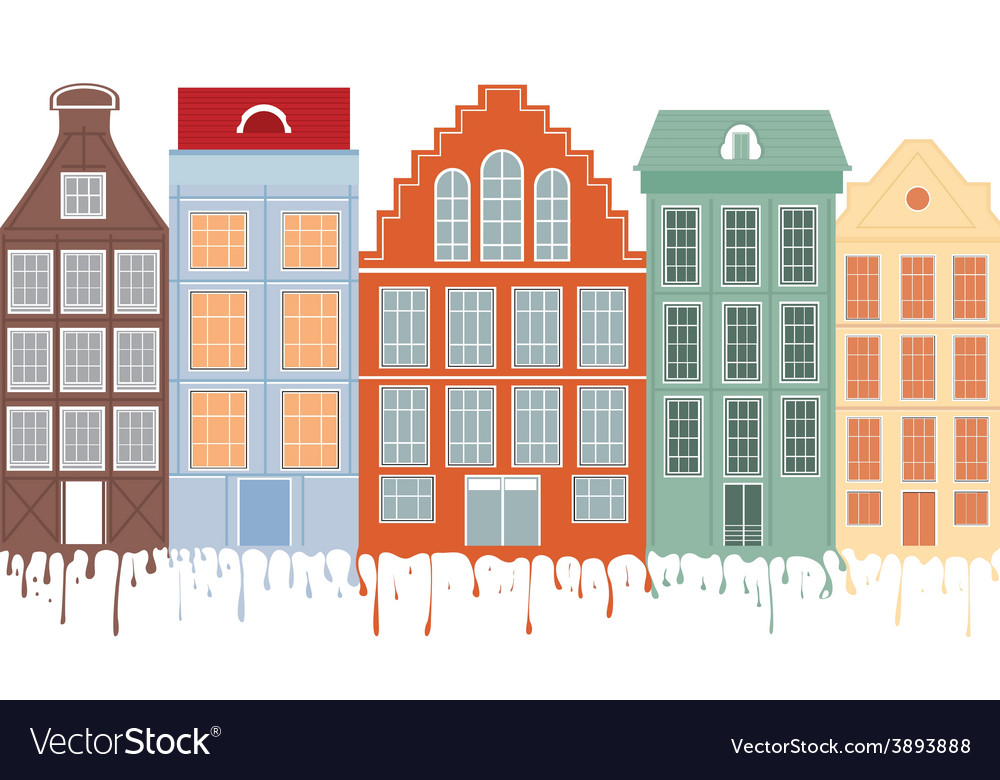 Original houses with the current paint vector | Price: 1 Credit (USD $1)