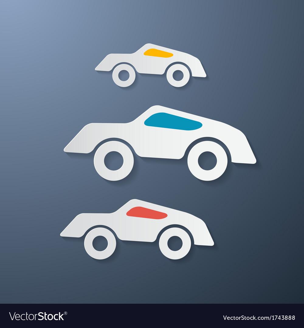 Paper retro cars vector | Price: 1 Credit (USD $1)