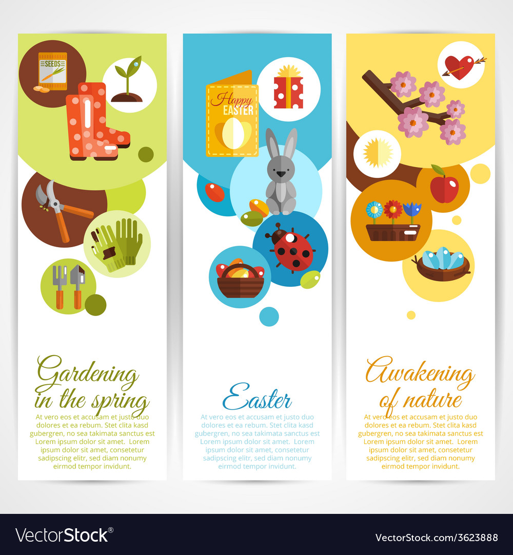 Spring banners vertical vector | Price: 1 Credit (USD $1)