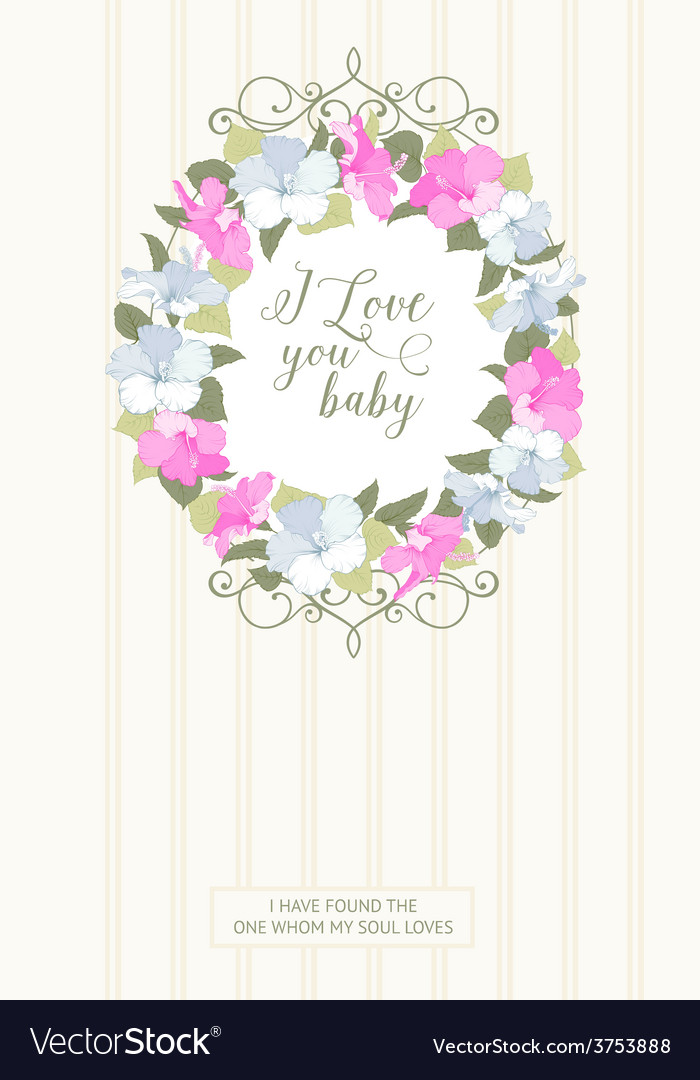 Vertical card with floral frame vector | Price: 1 Credit (USD $1)