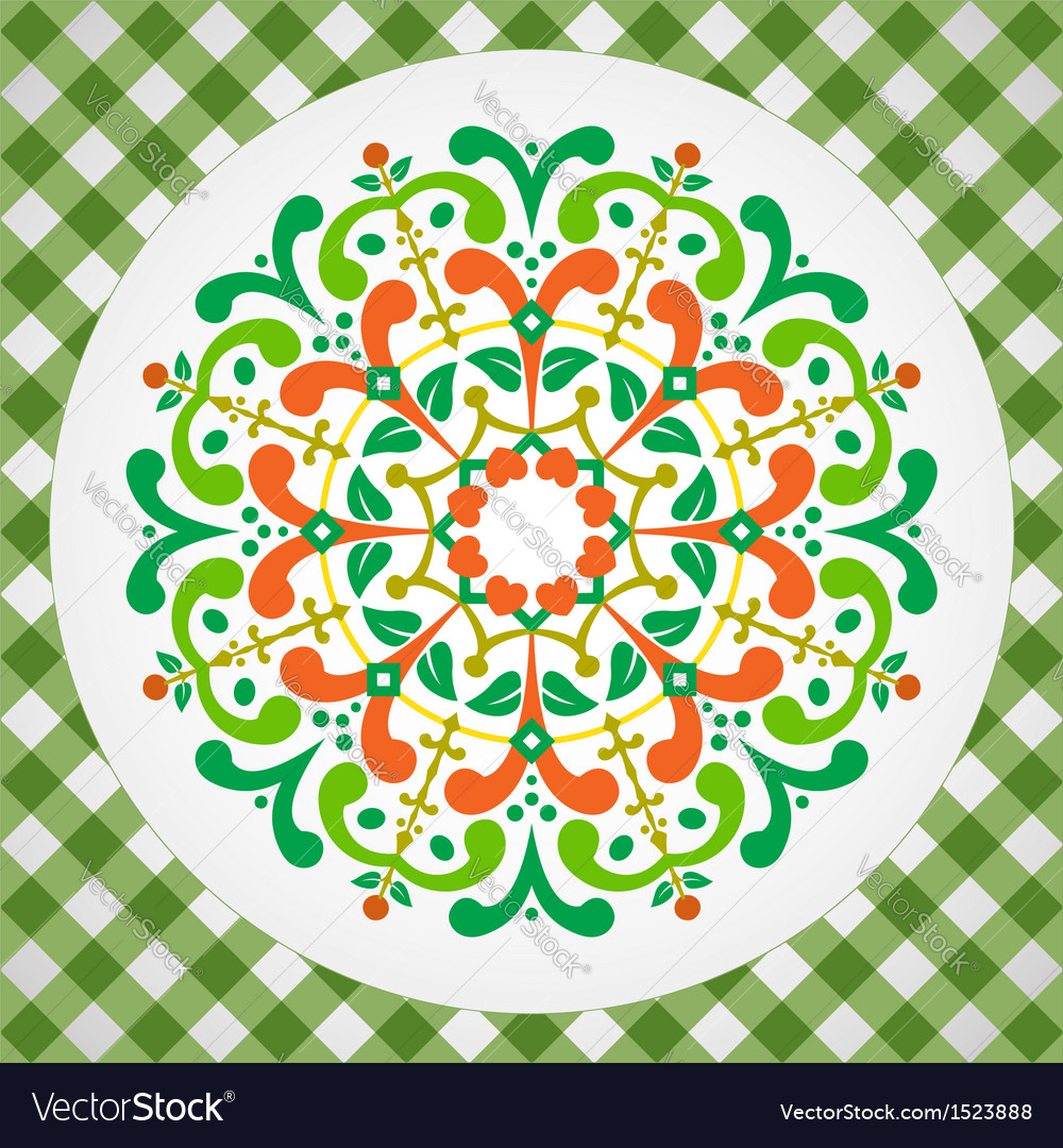 Vintage with radial ornament vector | Price: 1 Credit (USD $1)