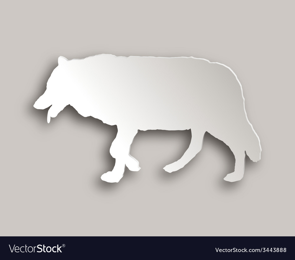 Wolf paper style vector | Price: 1 Credit (USD $1)
