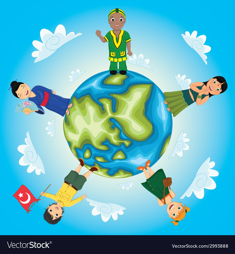 World kids vector | Price: 1 Credit (USD $1)