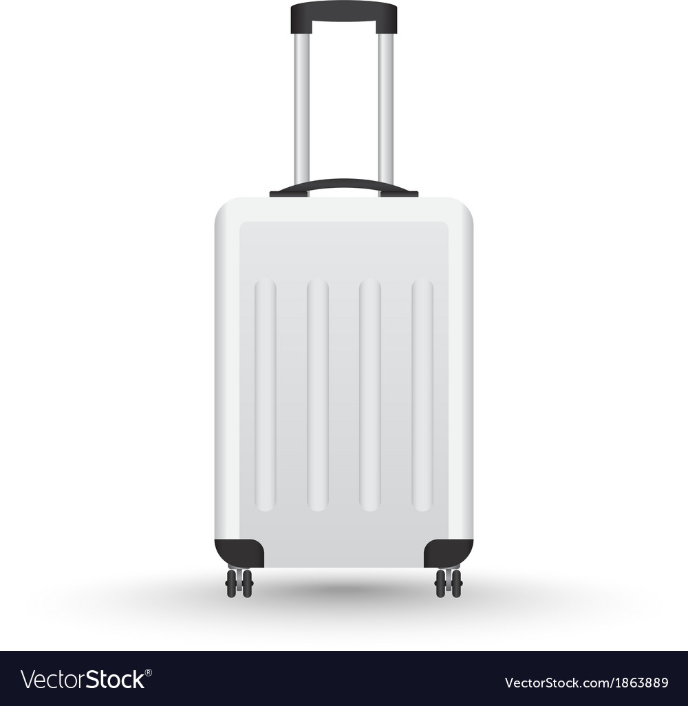 3d realistic suitcase for travel vector | Price: 1 Credit (USD $1)