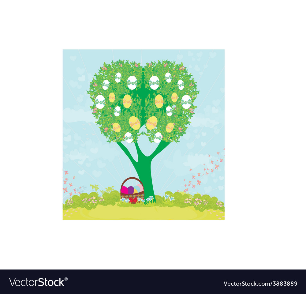 Abstract tree with easter eggs vector | Price: 1 Credit (USD $1)