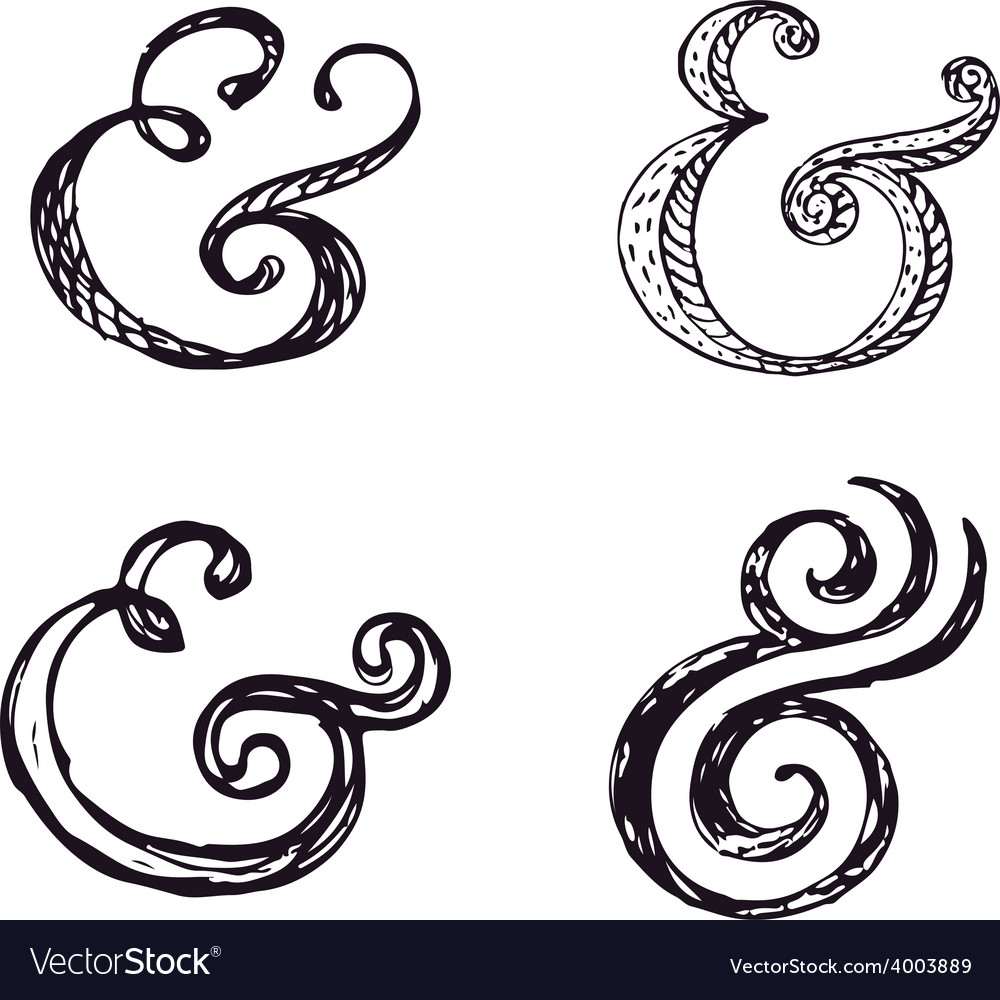 Ampersands vector | Price: 1 Credit (USD $1)