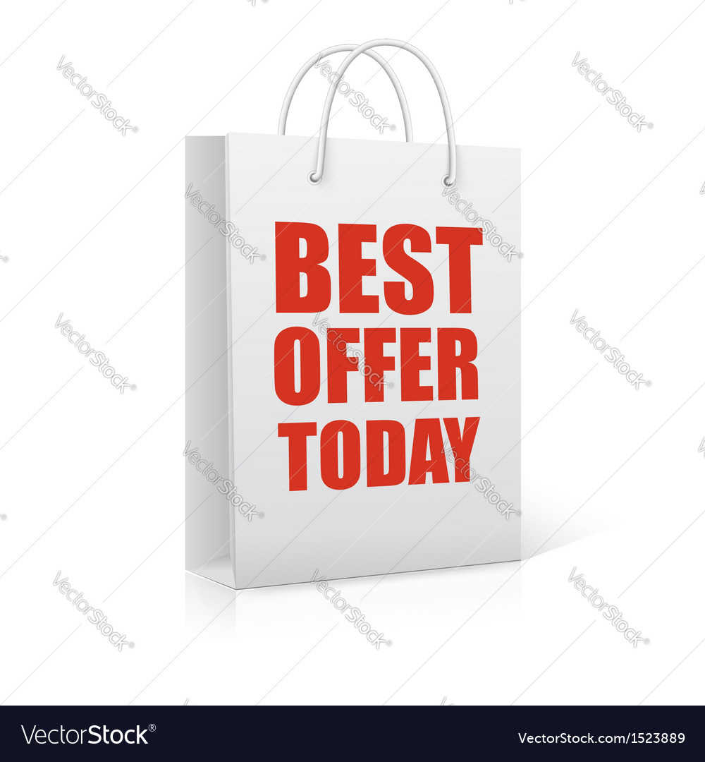 Best offer today shopping bag vector   Price: 1 Credit (USD $1)