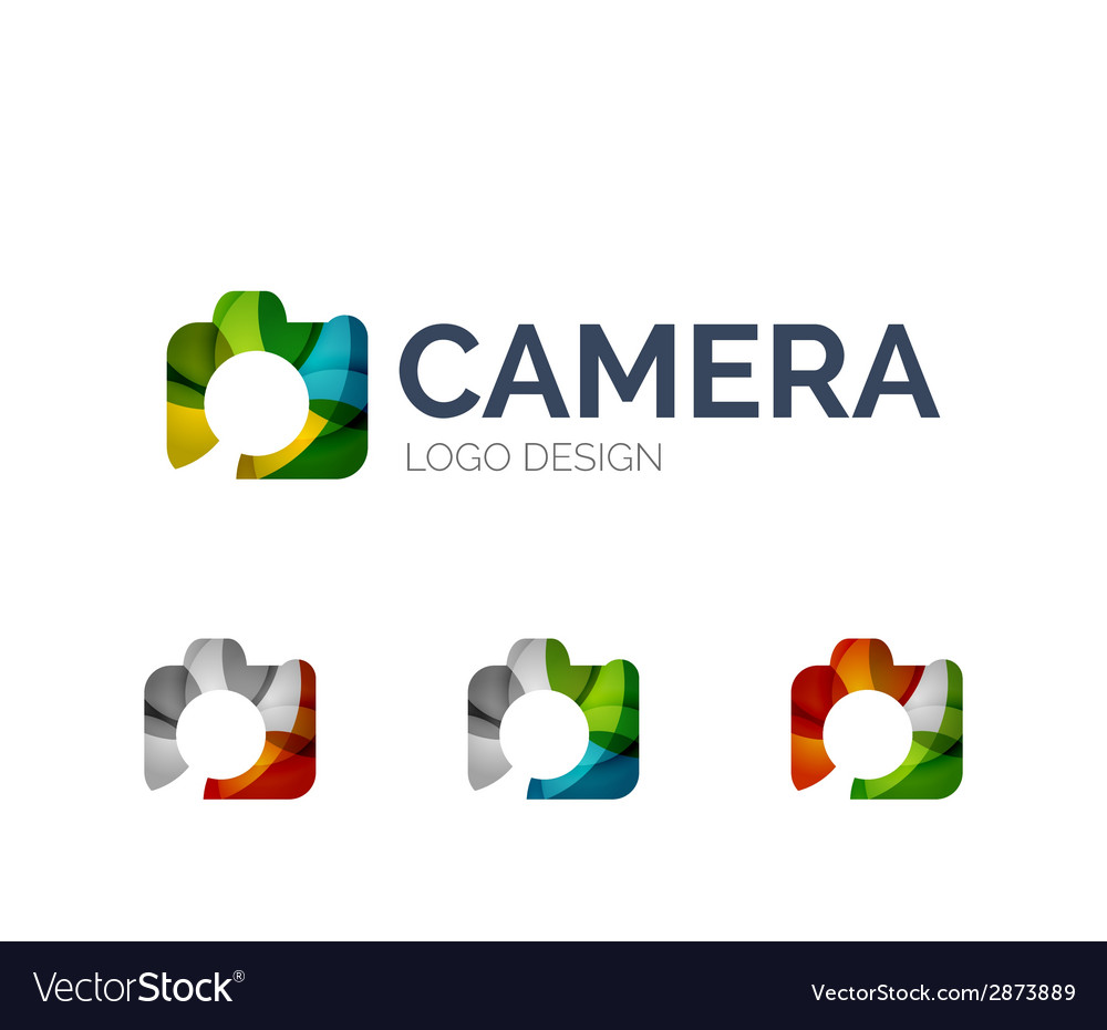 Camera logo design made of color pieces vector | Price: 1 Credit (USD $1)