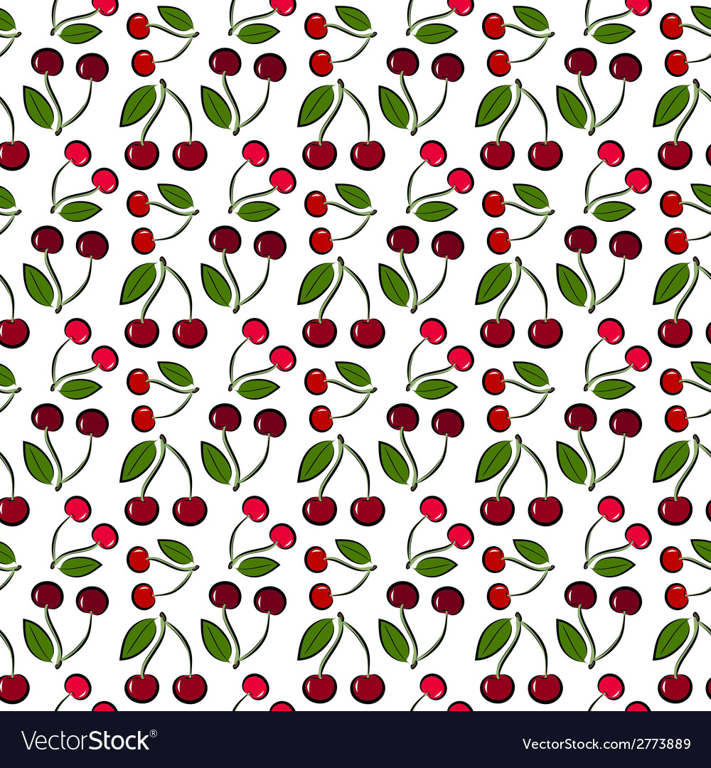 Cherry pattern vector | Price: 1 Credit (USD $1)