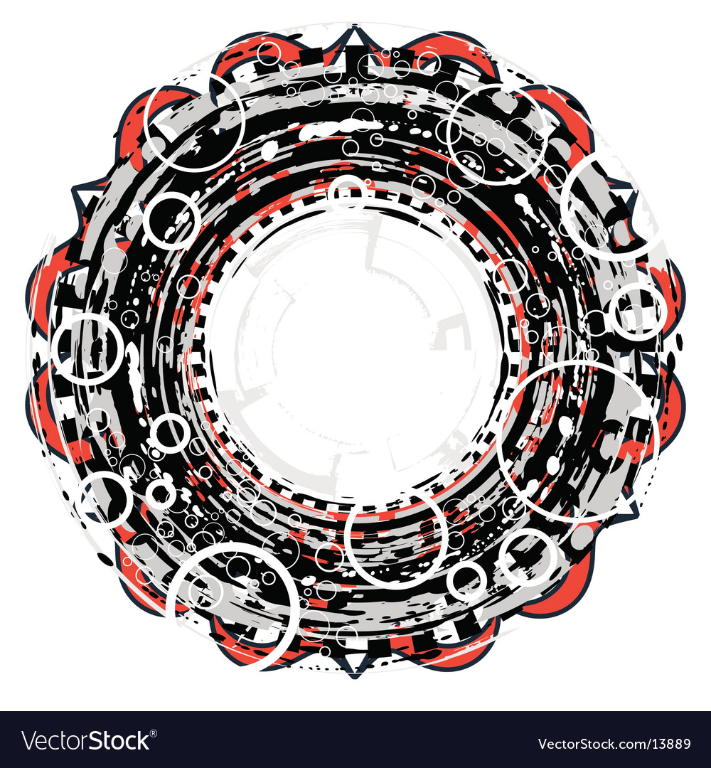 Circular grunge vector | Price: 1 Credit (USD $1)
