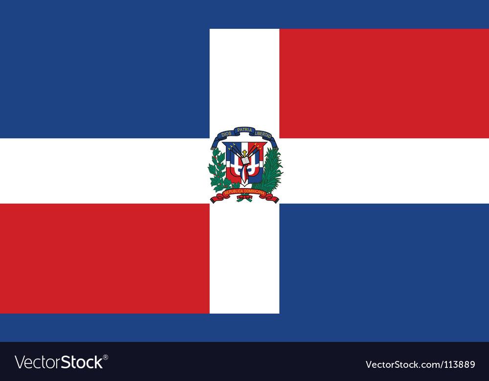 Dominican republic flag vector   Price: 1 Credit (USD $1)