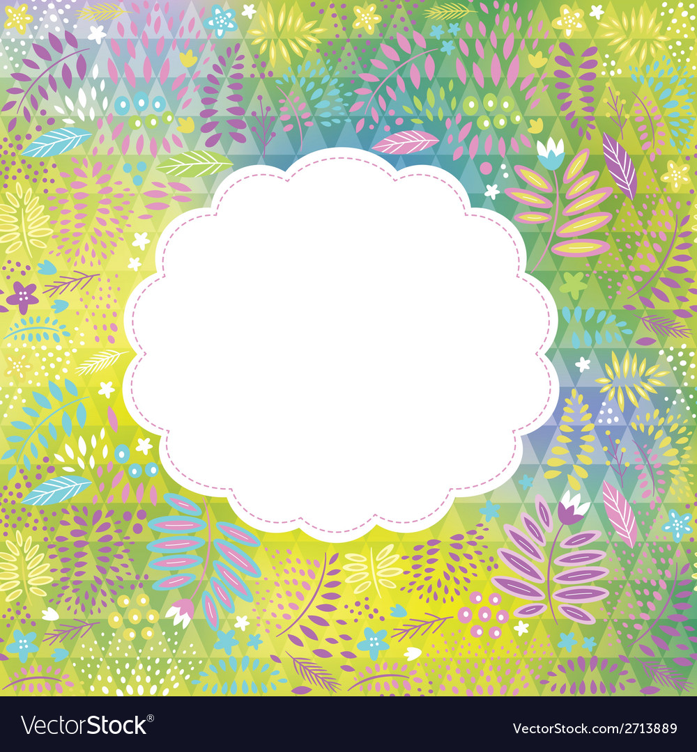 Frame on the floral background place fo your text vector | Price: 1 Credit (USD $1)