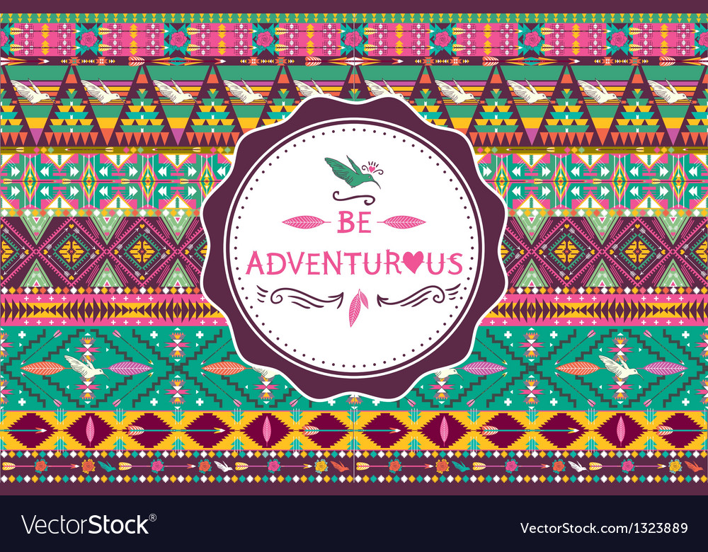 Hipster seamless aztec pattern vector | Price: 1 Credit (USD $1)