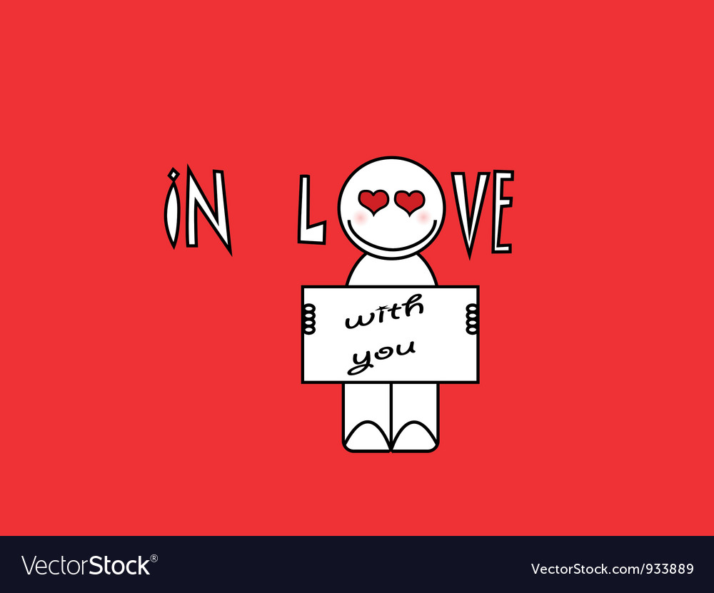 In love with you cartoon vector | Price: 1 Credit (USD $1)