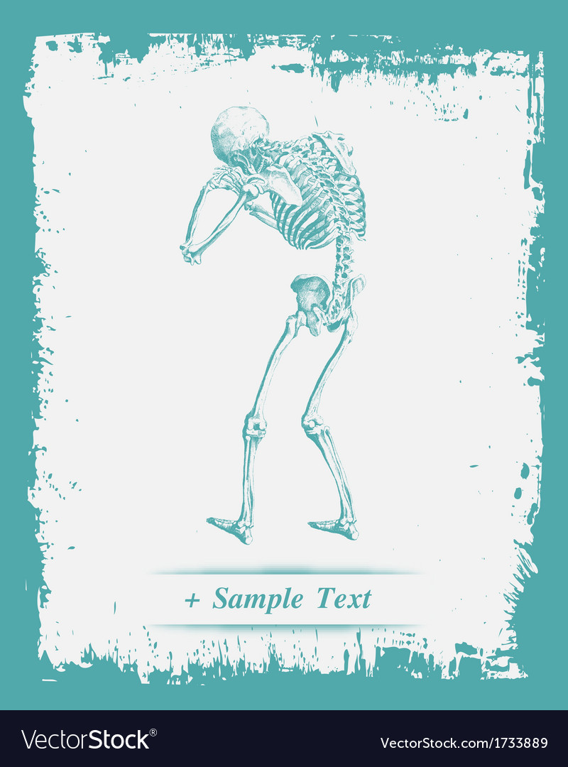 Paper art human skeleton vector | Price: 1 Credit (USD $1)