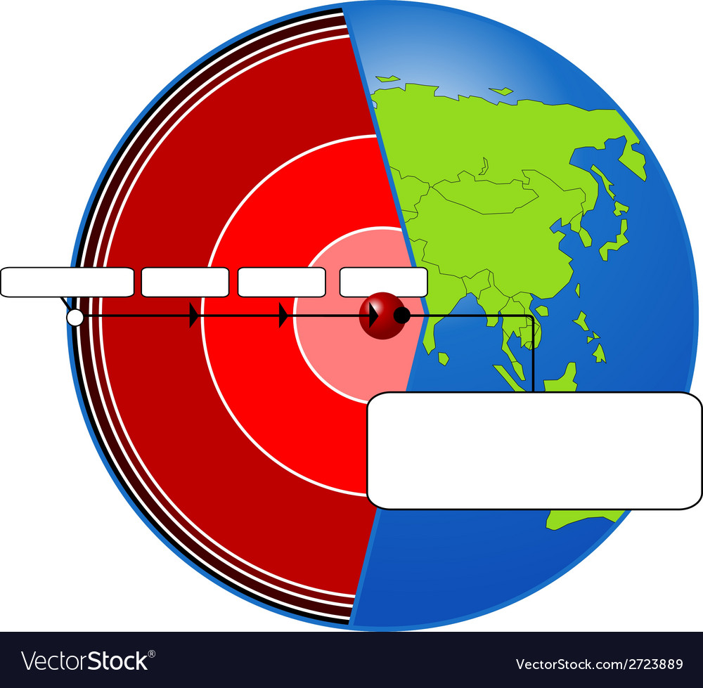 Planet cross section vector | Price: 1 Credit (USD $1)