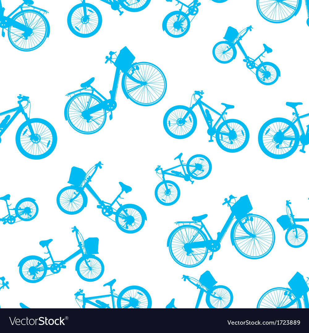 Seamless blue bicycle bike vector | Price: 1 Credit (USD $1)