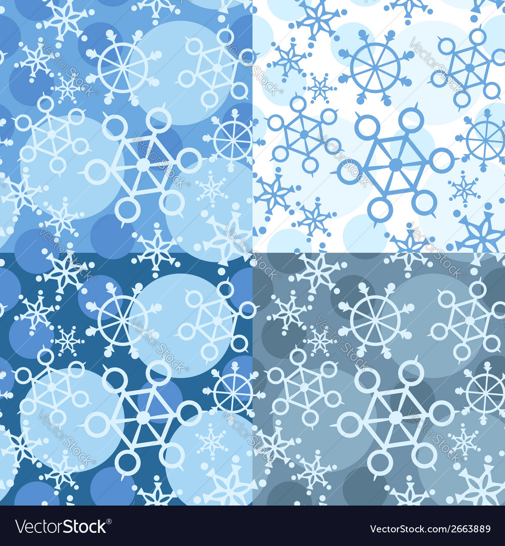 Snowflake seamless pattern vector | Price: 1 Credit (USD $1)