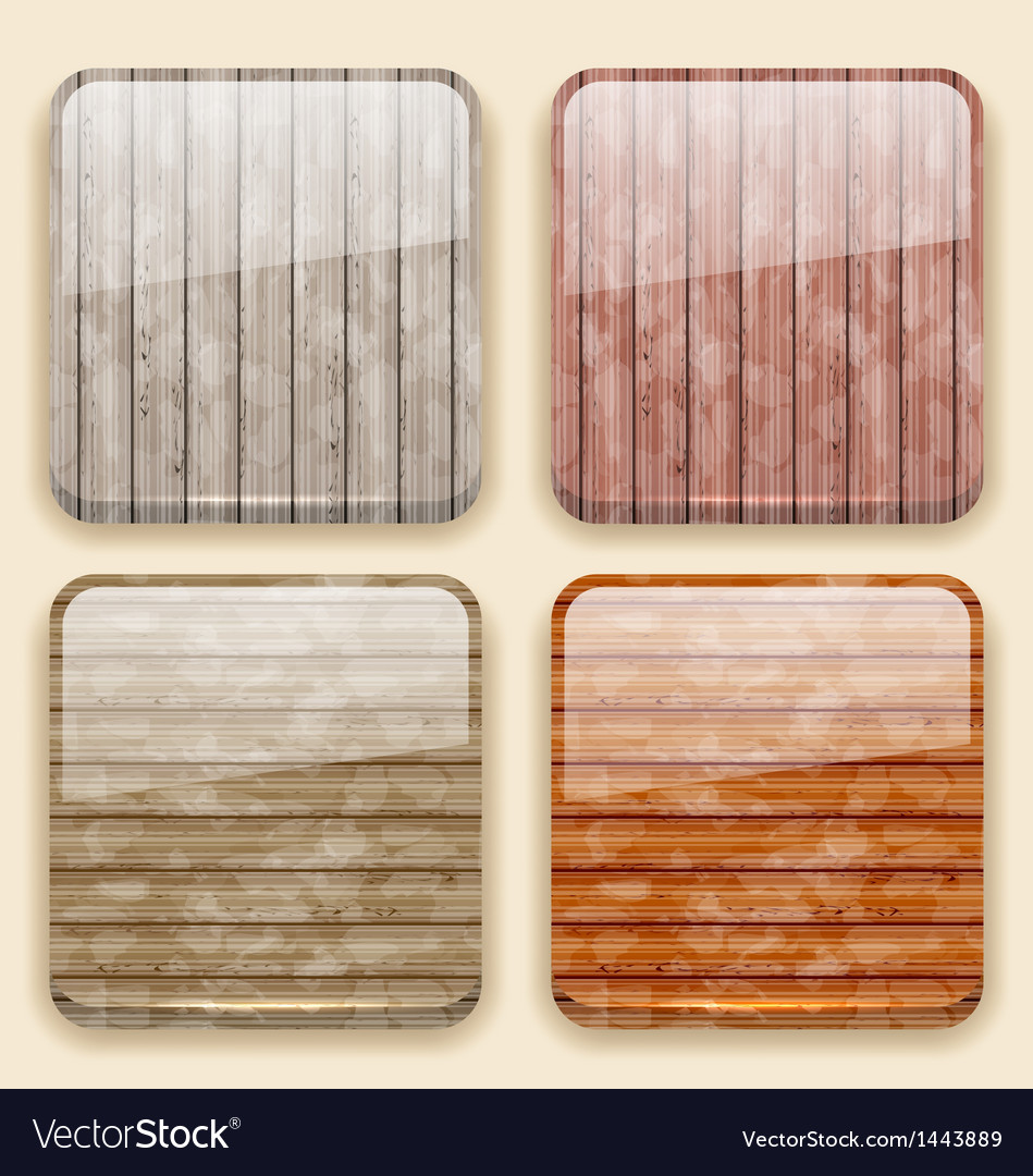 Wooden backgrounds for the app icons vector | Price: 1 Credit (USD $1)