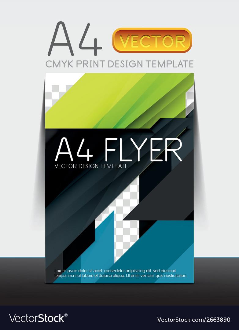 Abstract flyer brochure design template vector | Price: 1 Credit (USD $1)