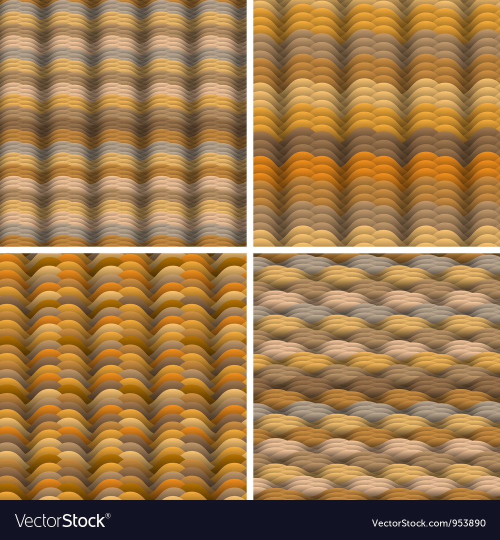 Abstract warm colored waves seamless pattern vector | Price: 1 Credit (USD $1)