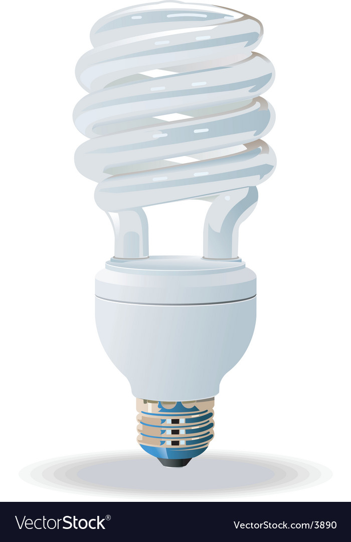 Compact fluorescent light bulb vector | Price: 3 Credit (USD $3)