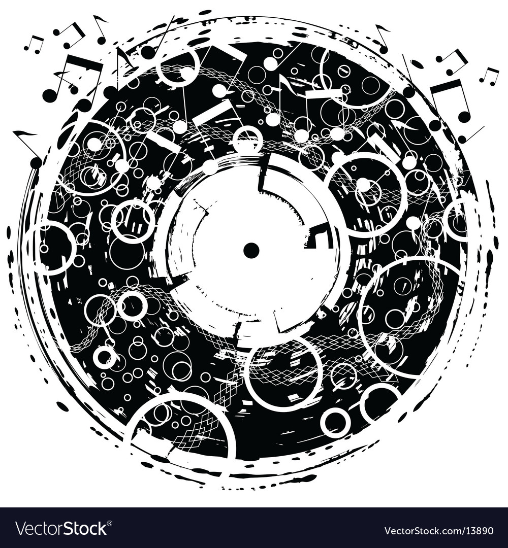 Disk grunge vector | Price: 1 Credit (USD $1)