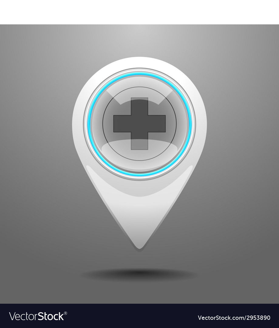 Glossy hospital icon vector | Price: 1 Credit (USD $1)