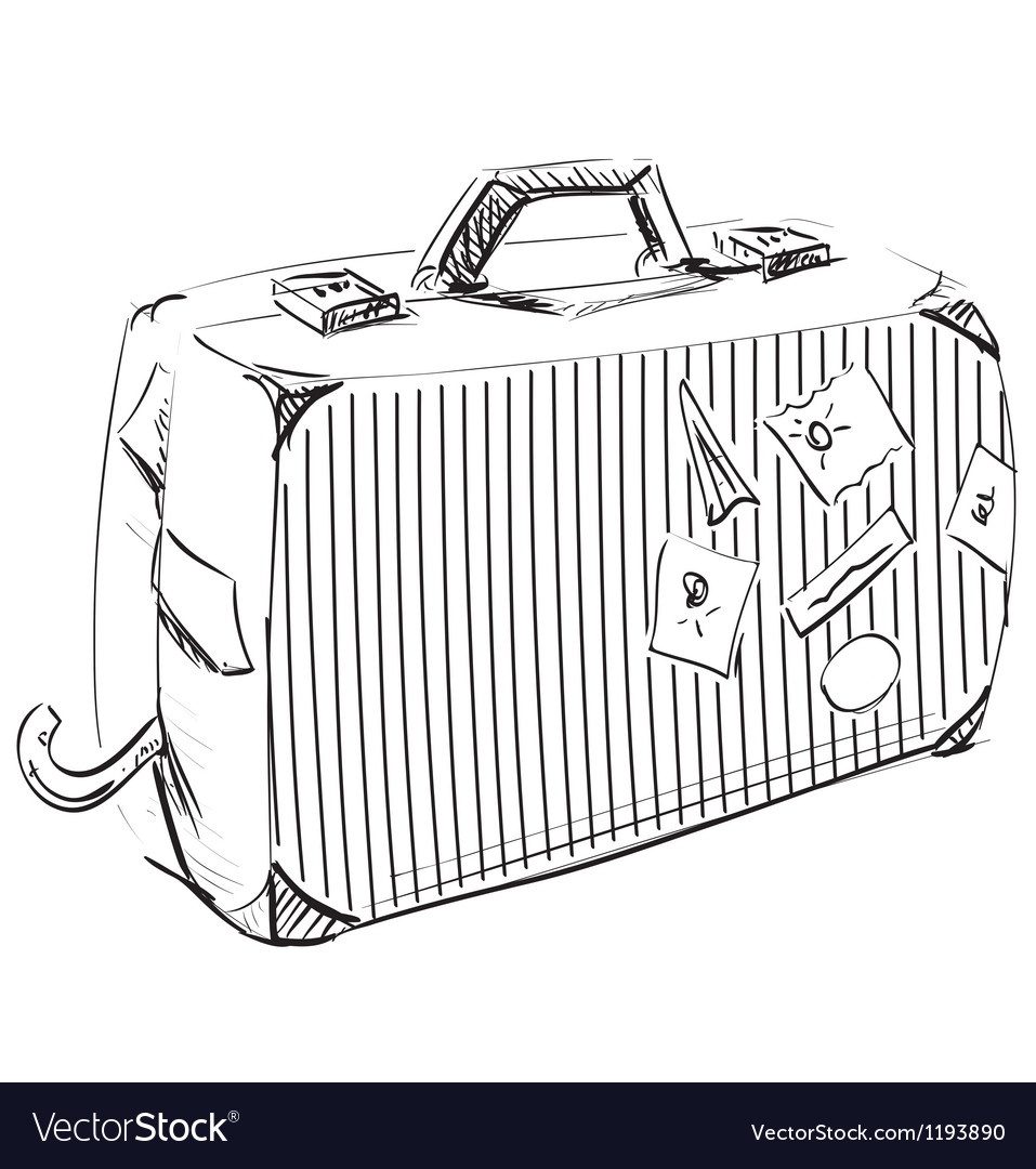 Journey suitcase vector | Price: 1 Credit (USD $1)