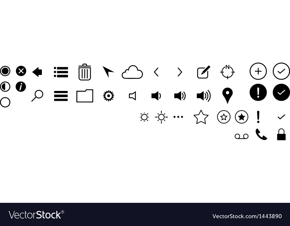 Minimalist ui icons vector | Price: 1 Credit (USD $1)