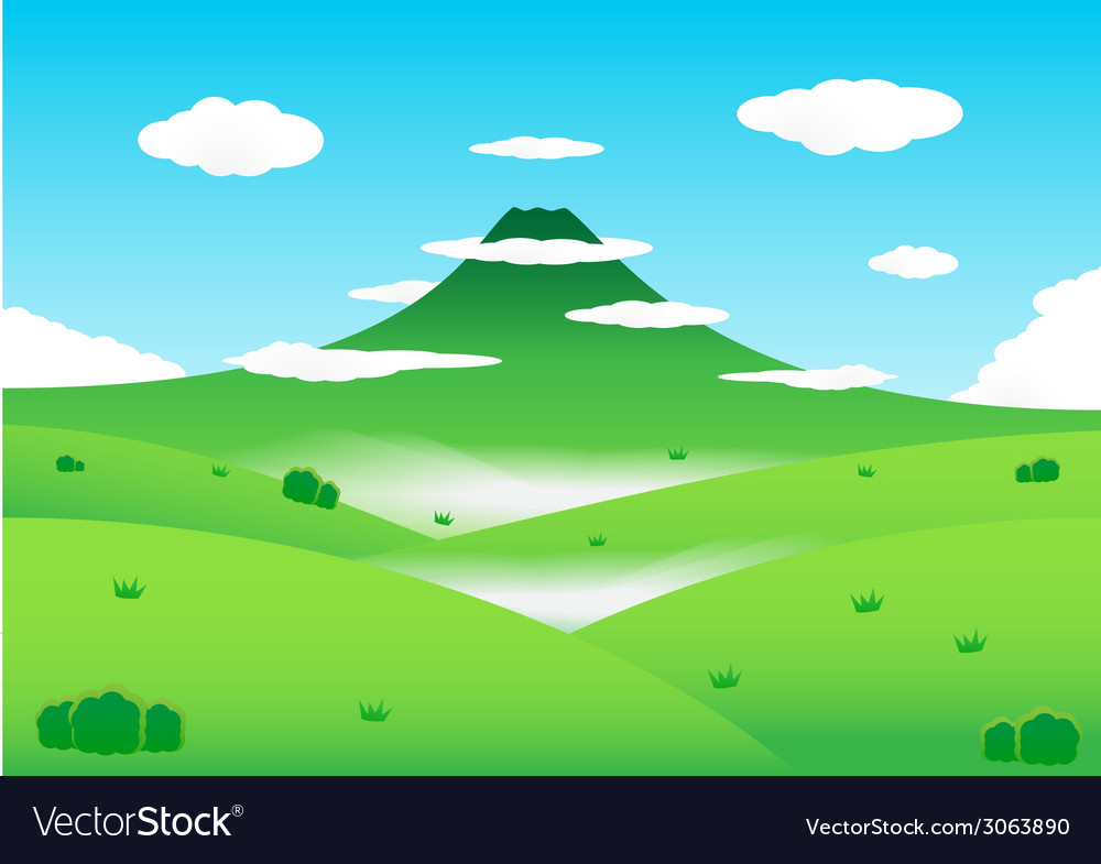 Nature mountain background vector | Price: 1 Credit (USD $1)