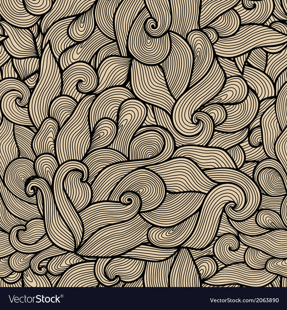 Seamless abstract hand-drawn pattern waves vector   Price: 1 Credit (USD $1)