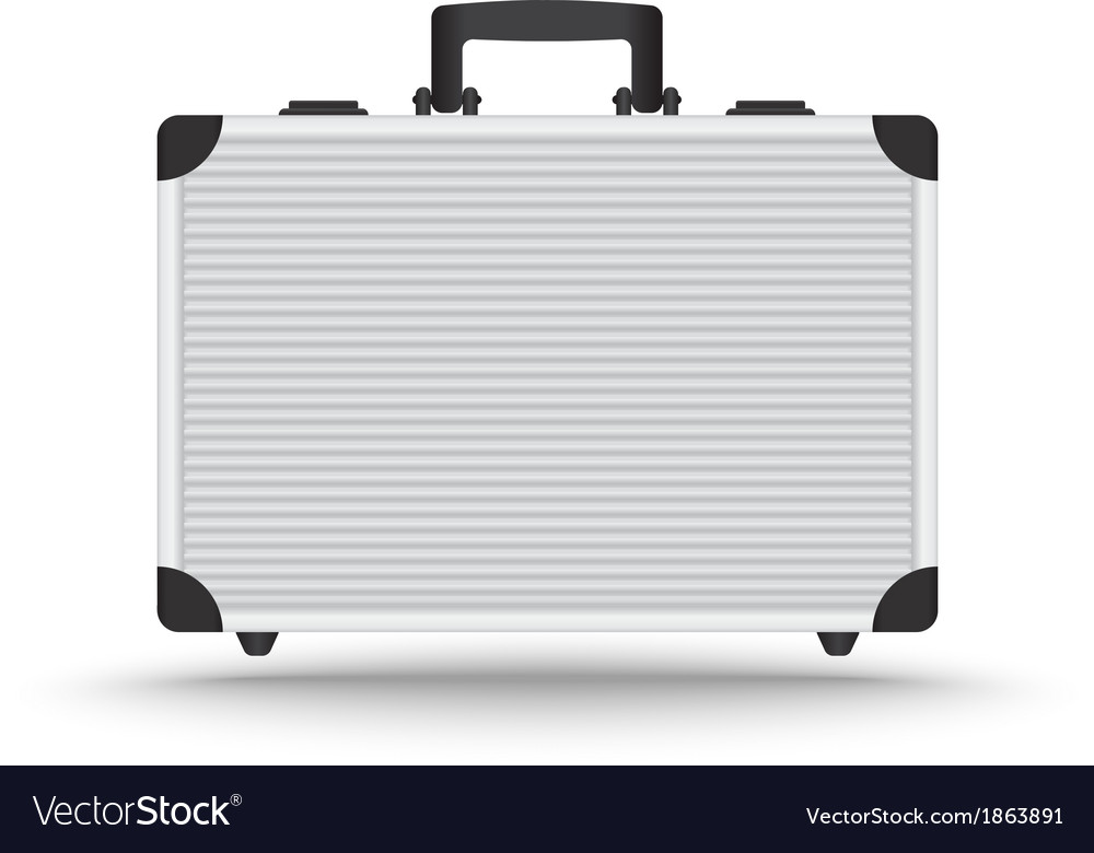 3d realistic aluminum briefcase vector | Price: 1 Credit (USD $1)