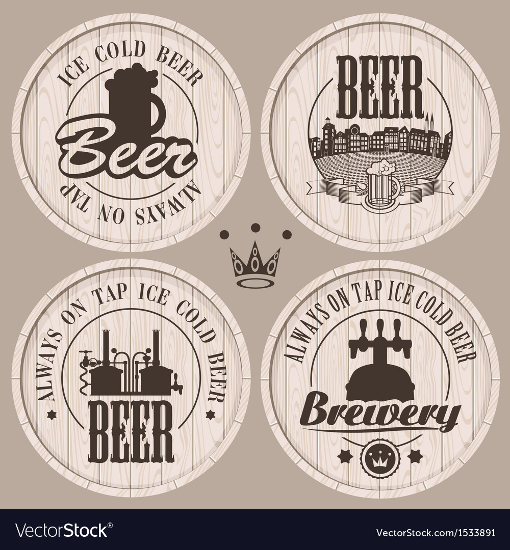 Barrel beer vector