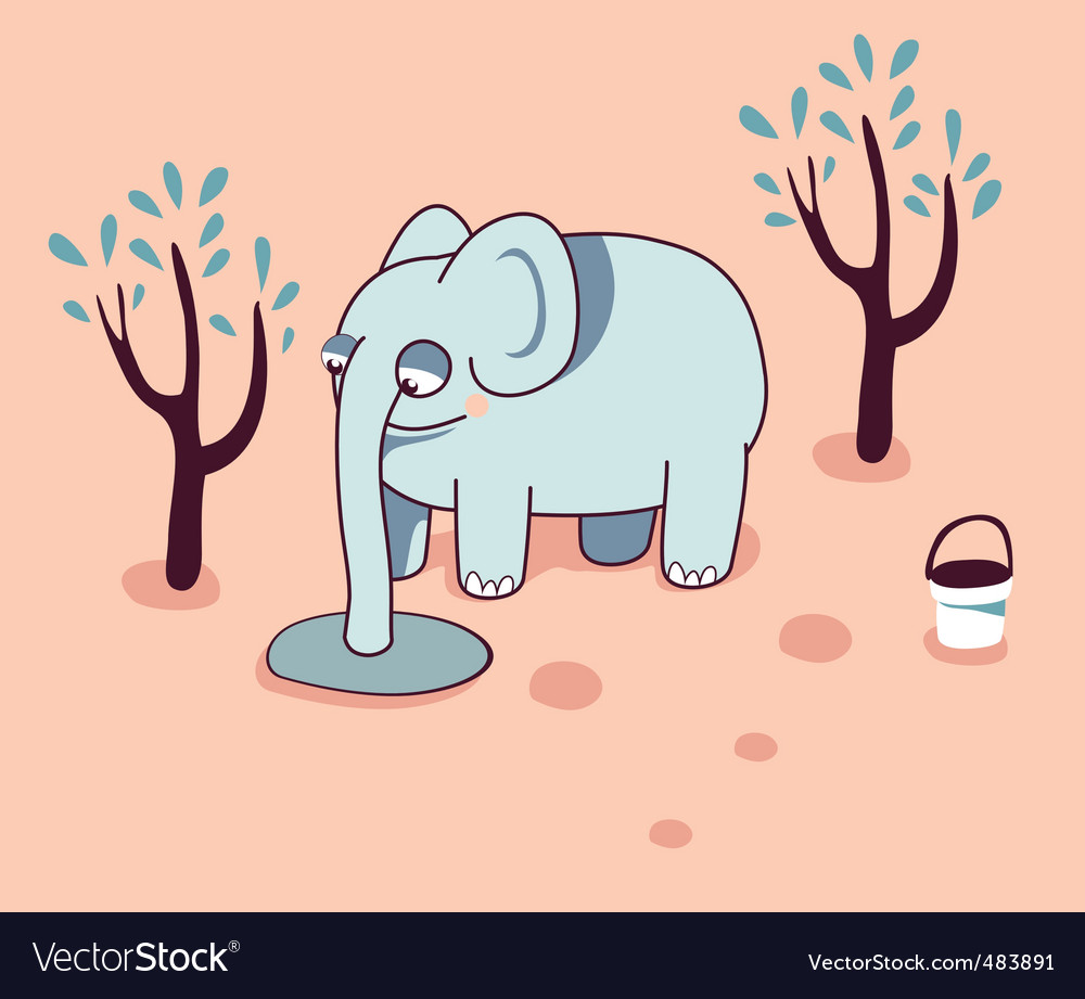 Cartoon elephant vector | Price: 3 Credit (USD $3)