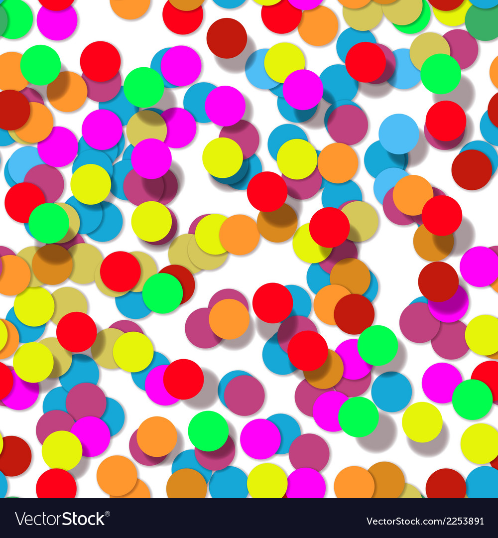 Confetti party design seamless pattern vector | Price: 1 Credit (USD $1)