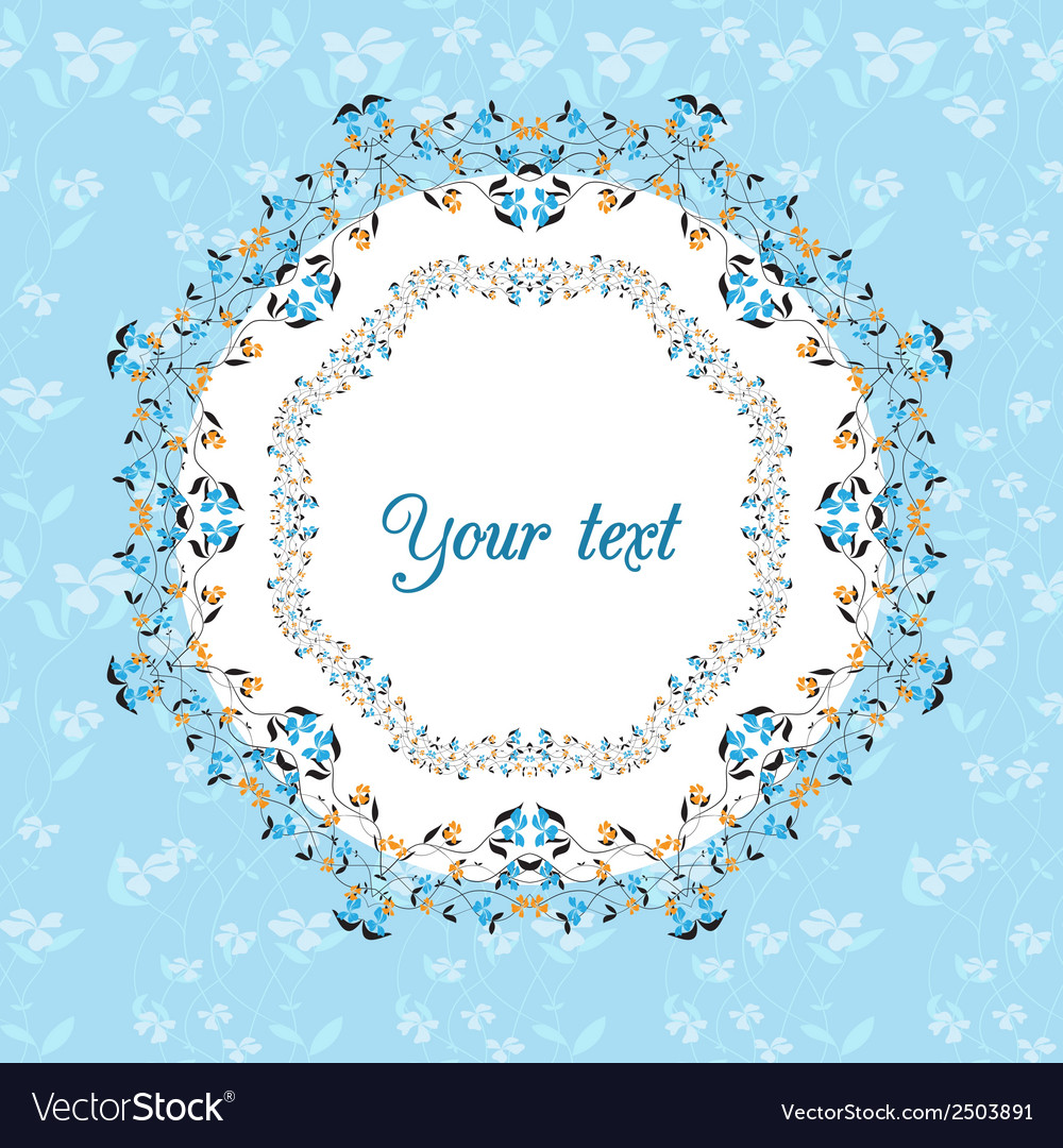 Floral design card vector | Price: 1 Credit (USD $1)