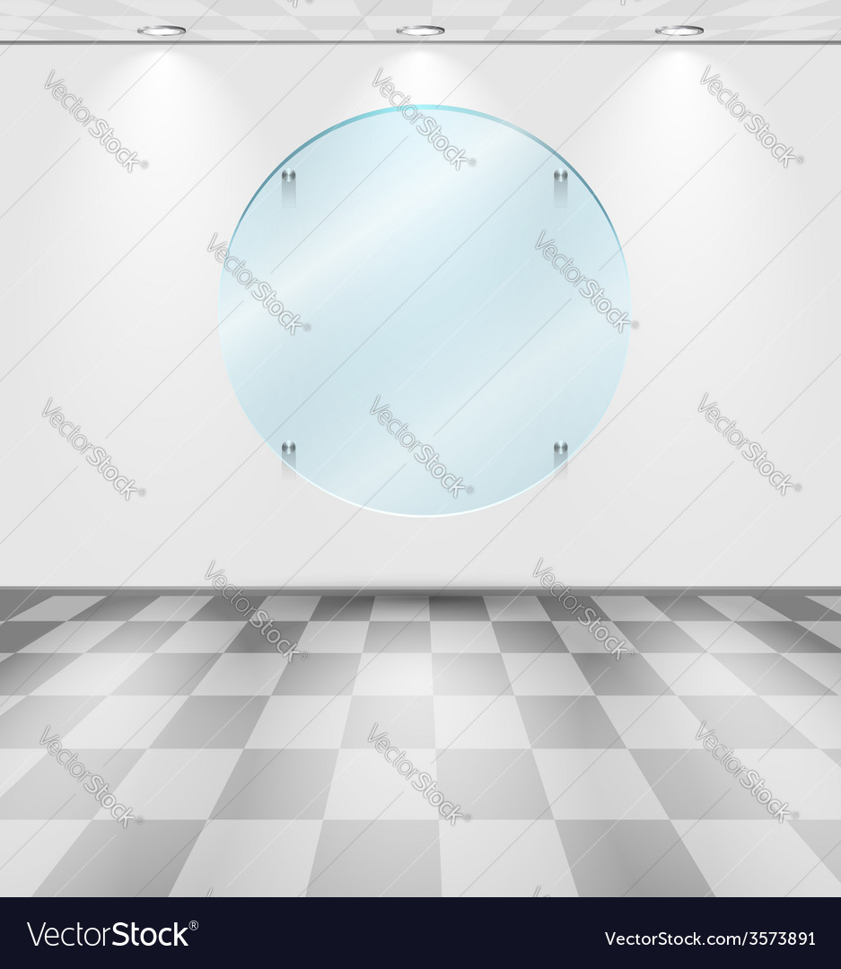 Room with round glass placeholder vector | Price: 1 Credit (USD $1)