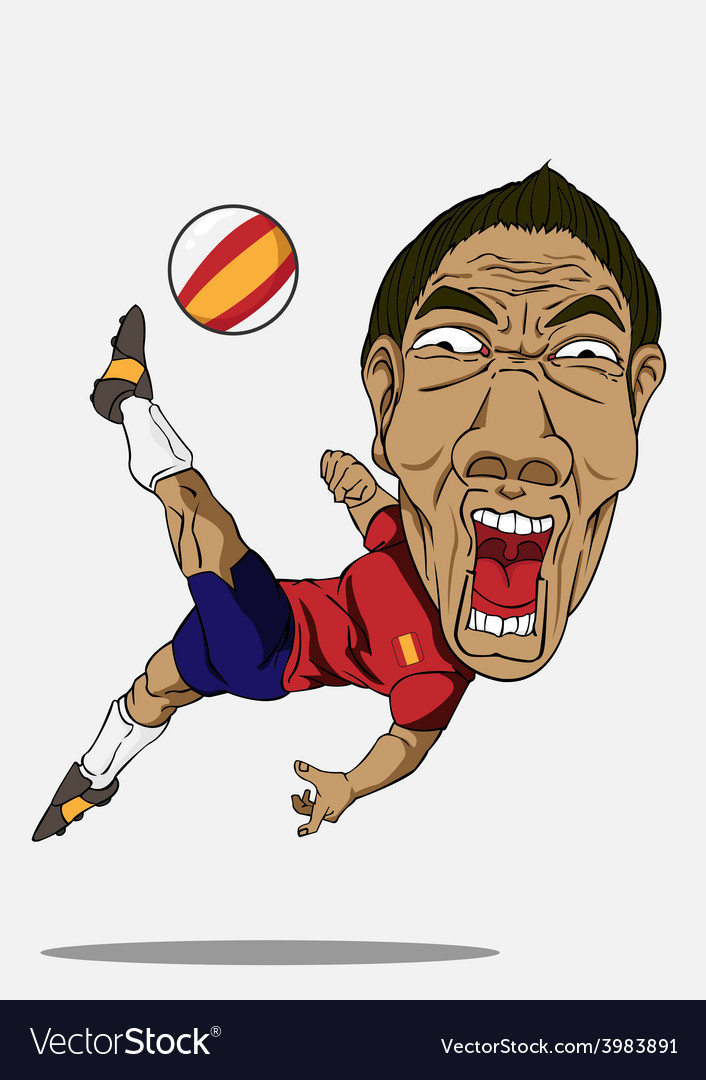 Soccer player spain vector | Price: 1 Credit (USD $1)