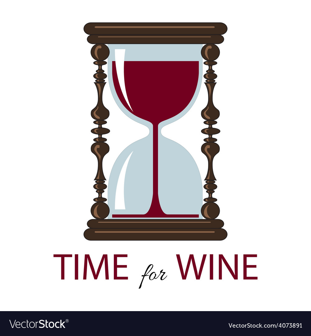 Time for wine color card vector | Price: 1 Credit (USD $1)