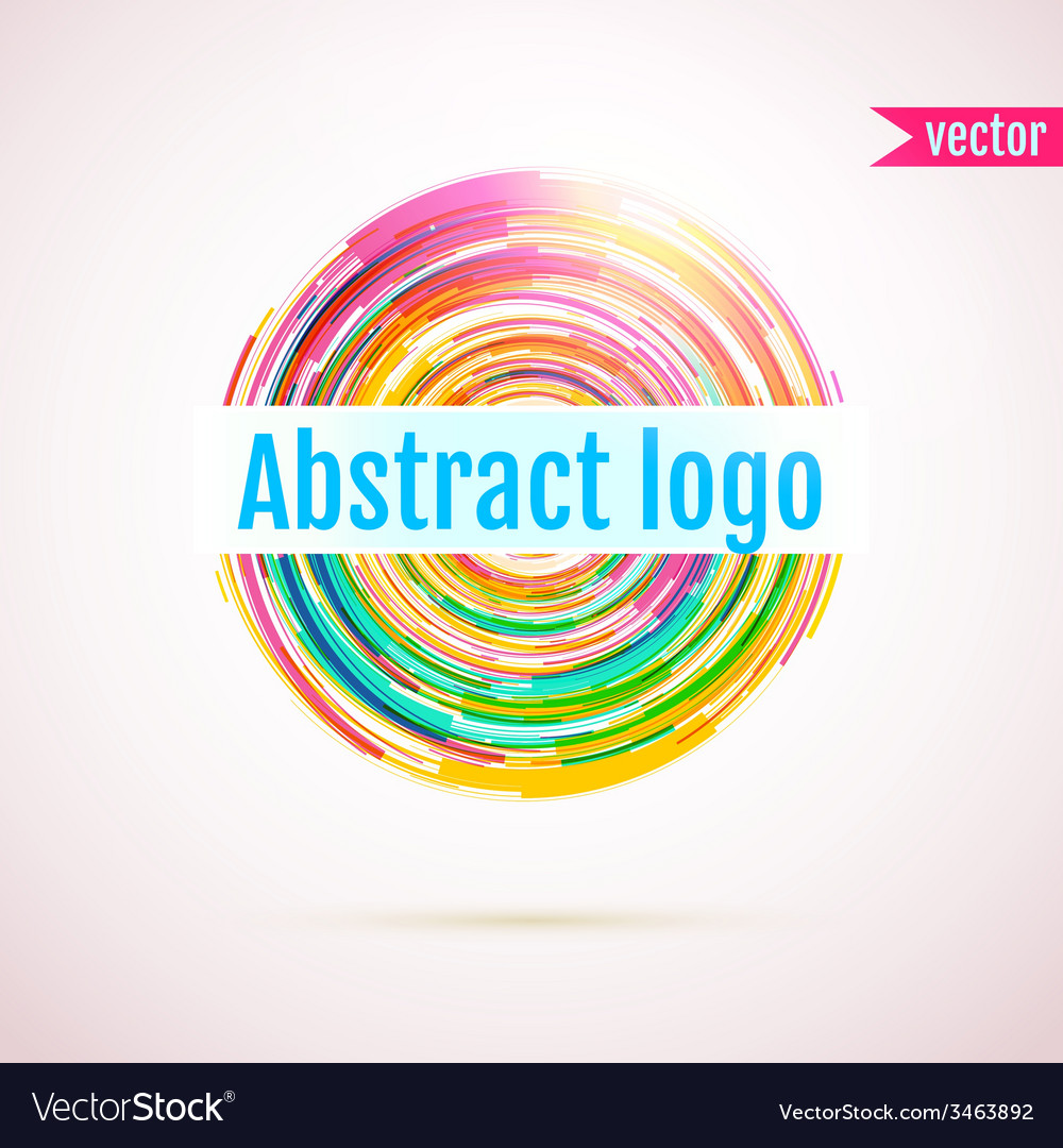 Abstract geometric circle logo with space for your vector | Price: 1 Credit (USD $1)