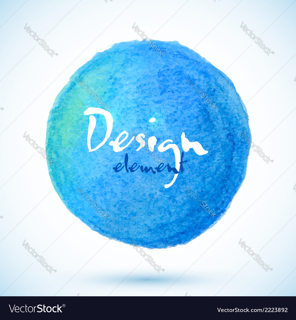 Blue isolated watercolor pencil circle vector | Price: 1 Credit (USD $1)