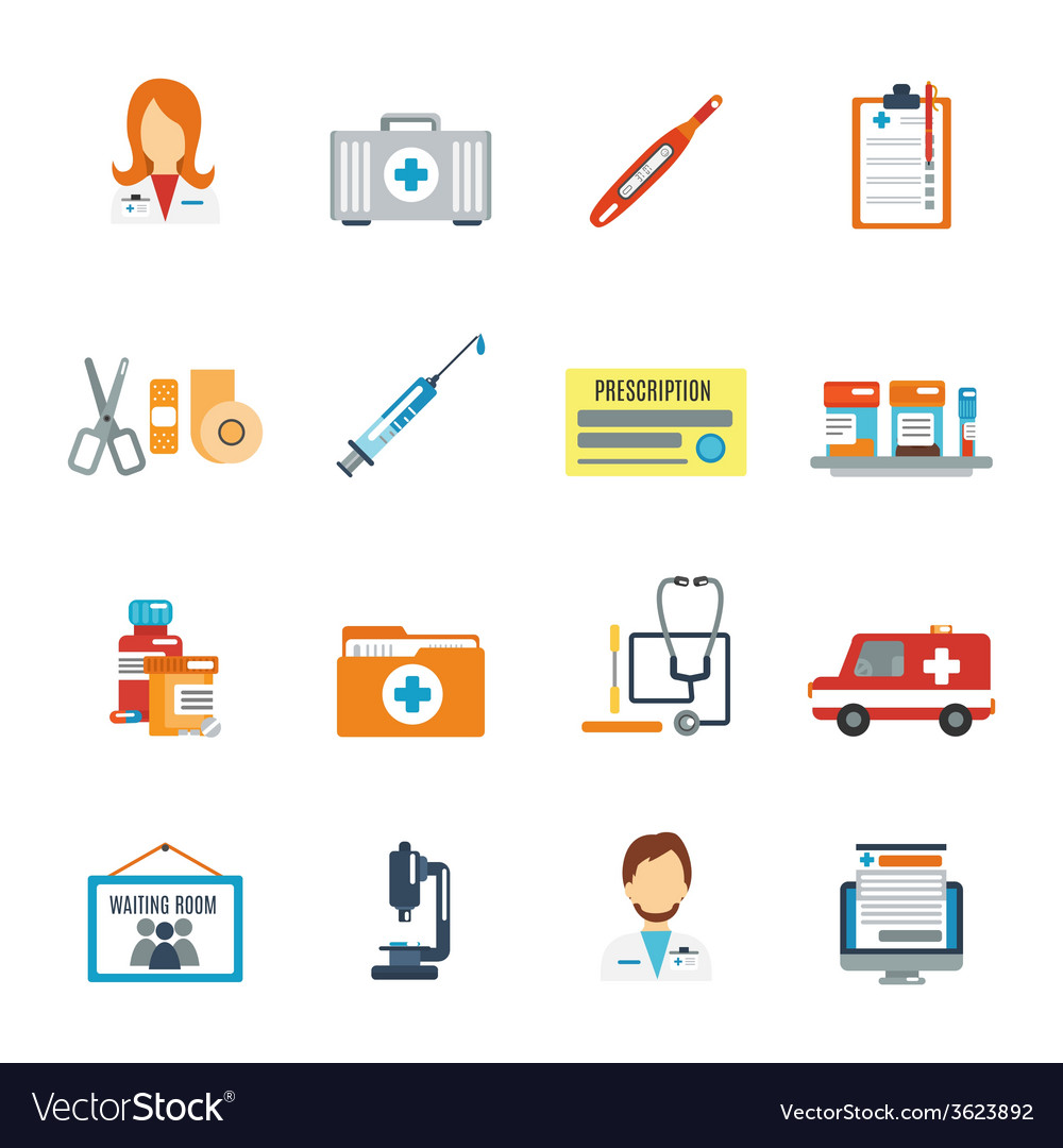 Doctor icon flat vector | Price: 1 Credit (USD $1)