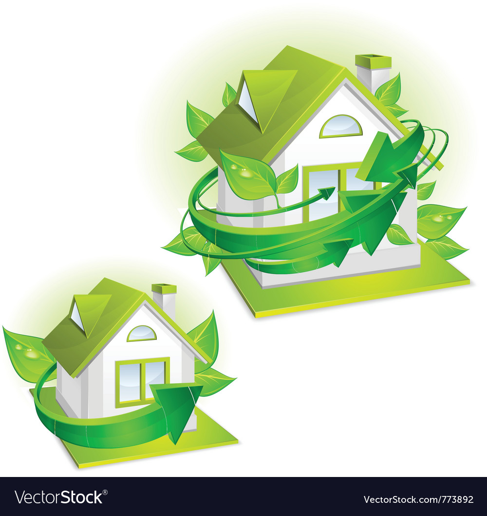House ecology protection vector | Price: 3 Credit (USD $3)