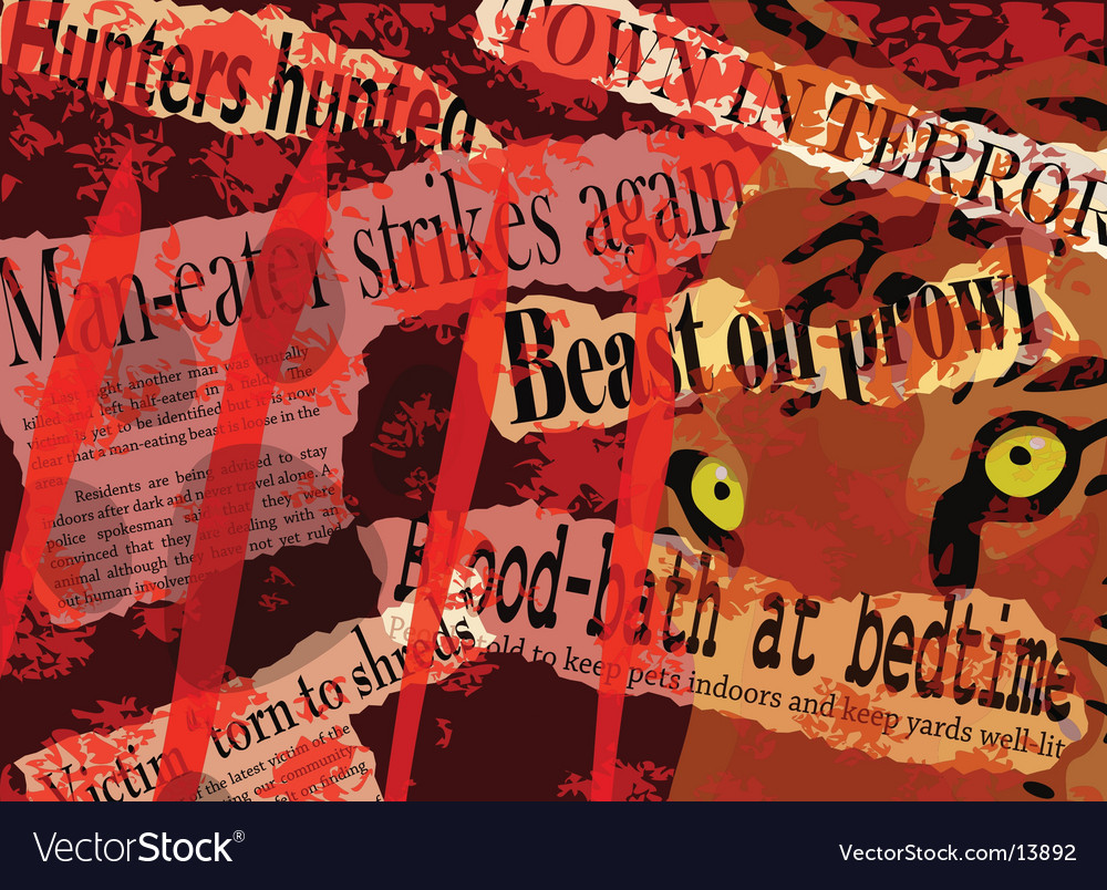 Man-eater headlines vector | Price: 1 Credit (USD $1)