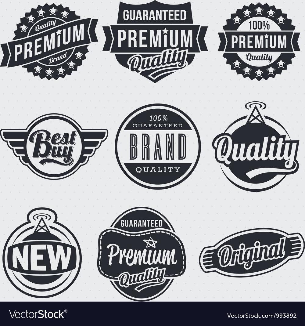 Retro vintage labels vector | Price: 1 Credit (USD $1)