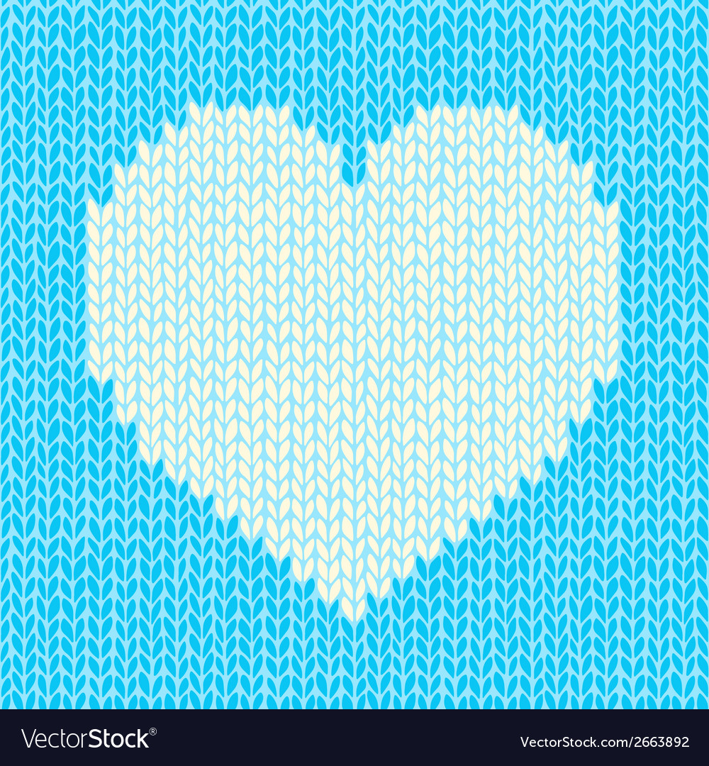 Seamless background with knitted heart vector | Price: 1 Credit (USD $1)